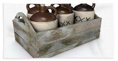 Moonshine In Wooden Crate Hand Towel