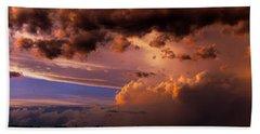 Nebraska Hp Supercell Sunset Hand Towel