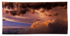 Nebraska Hp Supercell Sunset Bath Towel