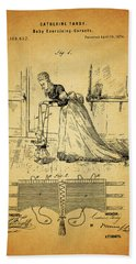 1874 Baby Exercising Corset Hand Towel by Dan Sproul