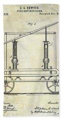 1875 Fire Extinguisher Patent Bath Towel