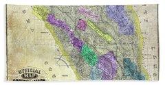 1876 Napa Valley Map Bath Towel