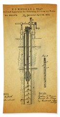 1878 Oil Well Hand Towel