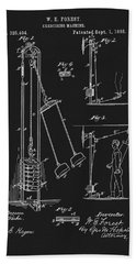 1885 Exercise Apparatus Bath Towel by Dan Sproul
