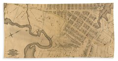 Bath Towel featuring the photograph 1885 Inwood Map  by Cole Thompson