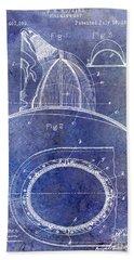 1889 Firemans Hat Patent Blue Bath Towel