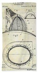 1889 Firemans Hat Patent Bath Towel