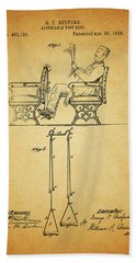 1889 Foot Rest Patent Hand Towel