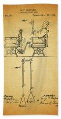 1889 Foot Rest Patent Bath Towel
