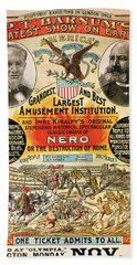 1890 - Circus Poster Hand Towel