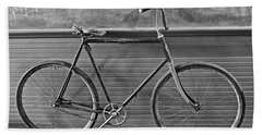 Hand Towel featuring the photograph 1895 Bicycle by Joan Reese
