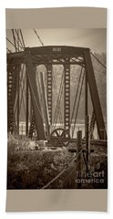 1898 Trestle In Sepia Hand Towel