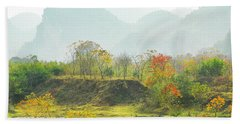 The Colorful Autumn Scenery Hand Towel