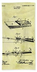 Bath Towel featuring the mixed media 1903 Mouse Trap Patent by Dan Sproul