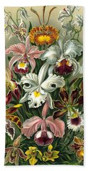1904 Orchids Art Forms Of Nature Print Hand Towel