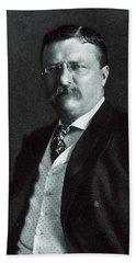 Hand Towel featuring the painting 1904 President Theodore Roosevelt by Historic Image