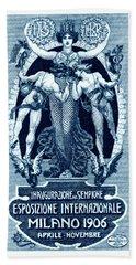 1906 Milan International Expo Bath Towel