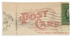 1909 Postcard Bath Towel