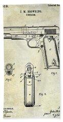 1911 Firearm Patent Hand Towel