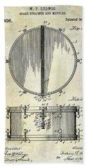 1912 Ludwig Drum Patent  Hand Towel by Jon Neidert