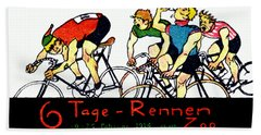 1914 Bicycle Race Poster Bath Towel