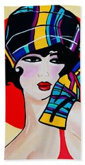 1920's Girl Anna Bath Towel by Nora Shepley