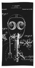1921 Gas Mask Patent Hand Towel