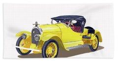 Bath Towel featuring the painting 1923 Kissel Kar  Gold Bug Speedster by Jack Pumphrey