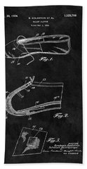 1924 Ballet Slipper Patent Bath Towel
