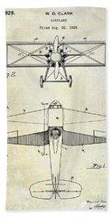 1929 Airplane Patent Bath Towel