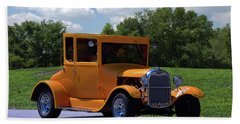 1926 Ford Hot Top T Hot Rod Bath Towel