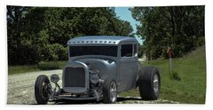 1928 Ford Coupe Hot Rod Bath Towel