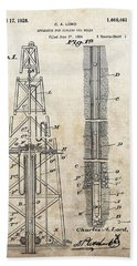 1928 Oil Well Patent Hand Towel