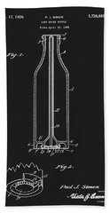 1929 Coca Cola Bottle Patent Hand Towel