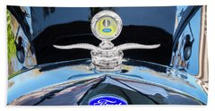 Bath Towel featuring the photograph 1929 Ford Model A Hood Ornament  by Rich Franco