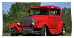 1929 Ford Sedan Hot Rod Hand Towel