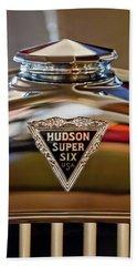 1929 Hudson Cabriolet Hood Ornament Bath Towel