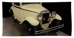Hand Towel featuring the digital art 1930 American Austin 5 Window Coupe by Chris Flees