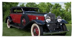 Bath Towel featuring the photograph 1930 Cadillac V16 Allweather Phaeton by Tim McCullough