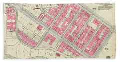 1930 Inwood Map  Bath Towel