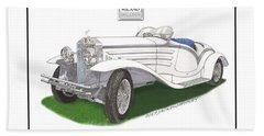 1930 Isotta Fraschini 8a Flying Star Roadster Hand Towel by Jack Pumphrey