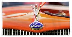 1930s Ford Coupe Grille And Hood Ornament Hand Towel