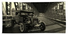 1931 Nash Coupe Rat Rod Bath Towel