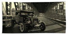 1931 Nash Coupe Rat Rod Bath Towel