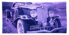 1932 Auburn Speedster Violet Grunge Bath Towel