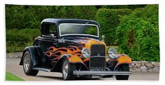 1932 Ford 'flamming Deuce' Coupe Bath Towel