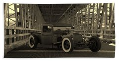 1932 Ford Pickup Rat Rod Bath Towel
