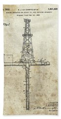 1932 Oil Well Patent Hand Towel