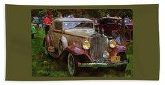 1932 Packard 900 Bath Towel by Thom Zehrfeld