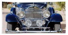 1933 Packard 12 Convertible Coupe Bath Towel